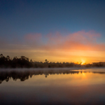 Sunset on the Bigfork River in Bigfork, MN. Courtesy of accredited Minnesota Land Trust/Hansi Johnson, photographer.