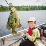 Big fish on Eagle Lake, MN. Courtesy of accredited Minnesota Land Trust/Hansi Johnson, photographer.