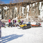 Snowmobiling at Quarry Park in Duluth, MN. Courtesy of accredited Minnesota Land Trust/Hansi Johnson, photographer.